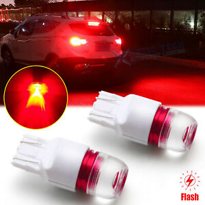 Strobe Light Flashing Red Led Bulbs Brake Tail Light For Toyota Honda Subaru