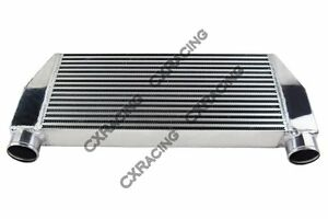 Cxracing 30x13x3 V Mount Intercooler 3 Inlet Outlet One Side For Mazda Rx7