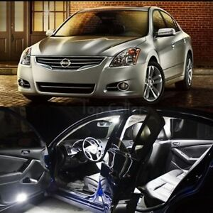 14pcs Xenon White Led Lights Interior Package For 2007 2012 Nissan Altima Sedan