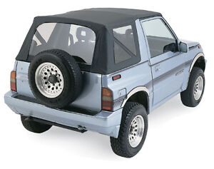 Tinted 95 98 Suzuki Sidekick Geo Tracker Soft Top Black 98835