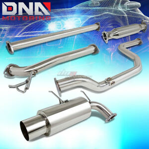 For 90 93 Acura Integra Db Catback Exhaust System 4 5 Muffler Cat Back Piping
