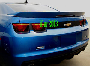 Chevy Camaro Zl1 Style Spoiler Rear Wing W 3rd Brake Lights Unpainted Spoiler