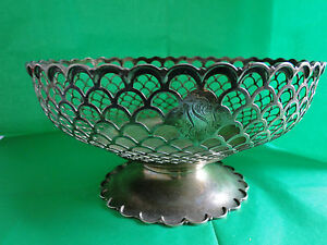 English Pierce Bowl Basket On Foot Sterling Silver Made By Mappin 1933 Art Deco
