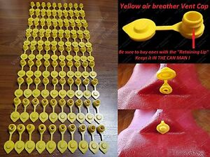 90 Yellow Vent Caps Gas Fuel Can Midwest Blitz Wedco Briggs Scepter Heavy Duty