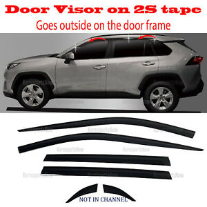 2s Tape Smoke Door Window Vent Visor Deflector 4pcs 2013 2018 Santa Fe Xl 7seat