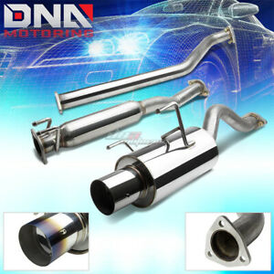 4 burnt Tip Stainless Steel Exhaust Catback System For 02 06 Rsx Dc5 Type s K20
