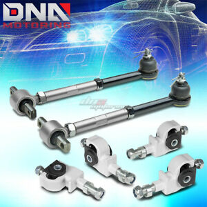 90 97 Honda Accord Silver Rear Camber Control Suspension Arm Front Adjuster Kit