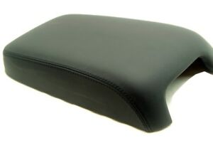 Center Console Armrest Real Leather Cover For Dodge Charger 11 19 Black