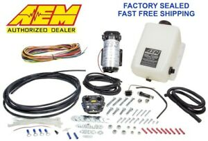 Genuine Aem 30 3300 Water Methanol Injection Kit 1 Gallon Tank V2 W Map Sensor