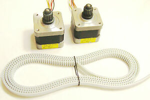 2 X Nema 17 Stepper Motors Timing Belt Reprap Makerbot Prusa Mendel 3d Printer