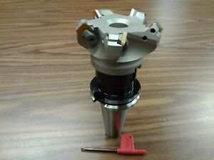 3 45 Degree Indexable Face Shell Mill W Cat40 Arbor face Milling Cutter new
