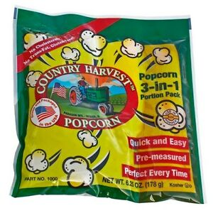 Country Harvest Popcorn Portion Pack For 4 Oz Poppers 40 Packs In The Case