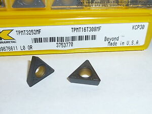 Tpmt 32 52 Mf Kcp30 Kennametal 10 Inserts Factory Pack 3252