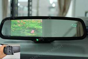 Rearview Mirror 4 3 lcd Display fits Ford gm toyota nissan Compass temperature