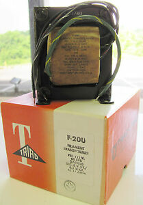 Triad F 20u 115v 60 Hz Pri 6vct Or 6 3vct 11a Secondary Filament Transformer