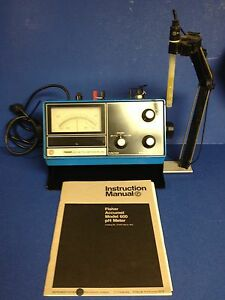 Fisher Accumet Model 600 Ph Meter 115v 0 15 Amp With Instruction Manual