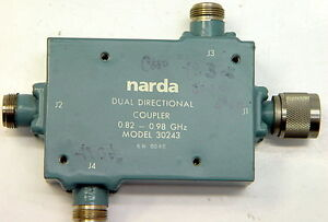 Narda Dual Directional Coupler 0 82 0 98 Ghz 30243