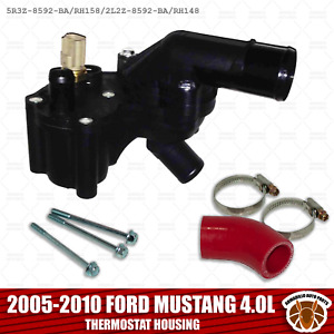 2005 2010 Ford Mustang 4 0l Thermostat Housing Assembly W sensor And Bypass Hose