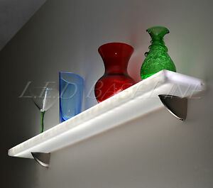 24 Floating Wall Shelf Display With Color Changing L e d Lights