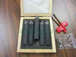 3 4 Indexable Turning Tool Bits 5pcs set Tcmt32 Inserts Part tobc341 new
