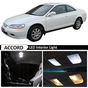 10x White Led Interior Lights Package Fits 1998 2002 Honda Accord Coupe