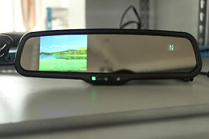 Rearview Mirror 3 5 Lcd Display Fits Ford Gm Toyota Nissan Compass Temperature