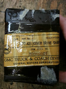 Military Gmc Dukw Nos Air Compressor Drive Shaft Boot Nos Tire Pump Cover G501