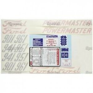 New Ford 901 941 951 And 961 Complete Decal Set