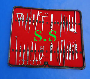30 Pieces Set Basic Eye Micro Surgery Surgical Instruments Kit Ey 022