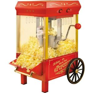 10 Cup Retro Countertop Popcorn Machine Old Fashion Home Kettle Pop Corn Maker