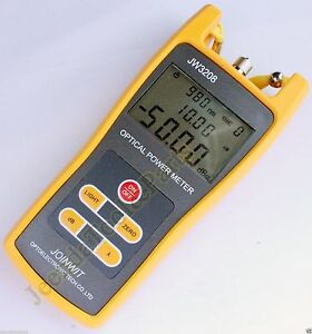 Handheld Optical Power Meter Jw3208c Laser Fiber Optic Tool Tester 50 To 26dbm