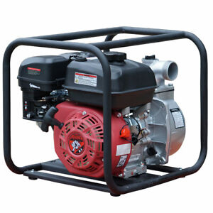 2 Gas Water Pump Semi Trash Pump 6 5 Hp 2 Inch Inlet Outlet Npt New Pool Marine