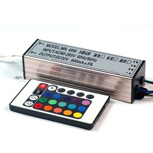 Hot 48w 50w High Power Rgb Led Driver Ac90 265v 24 key Infrared Controller