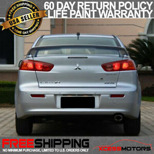 08 17 Mitsubishi Lancer Oe Trunk Spoiler Painted A39 Graphite Grey Pearl Abs