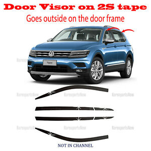 2018 2021 Volkswagen Tiguan Door Side Window Vent Visors Rain Guards 6pcs Set