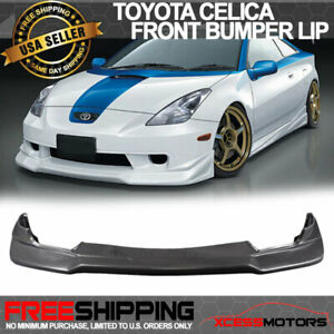 Fits 00 02 Toyota Celica Jdm Vip Style Urethane Front Bumper Lip Spoiler Bodykit
