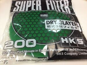 Hks Super Power Flow Replacement Filter 200mm Green Mazda Honda Toyota Bmw Nissa