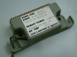 Leeds Northrup Type K 0 1000 f Range Card 650023
