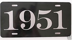1951 Year License Plate Fits Mercury Lincoln Chevy Ford Chrysler Buick Cadillac