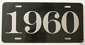 1960 License Plate Fits Impala Cadillac Oldsmobile Buick Dodge Plymouth Desoto
