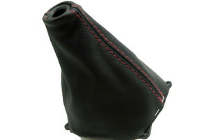 Manual Shift Boot Real Leather For Honda Civic Si 06 11 Red Stitch