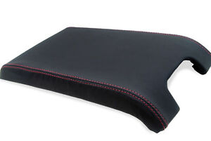 Center Console Armrest Real Leather Cover For Ford F150 Raptor 09 14 Red Stitch