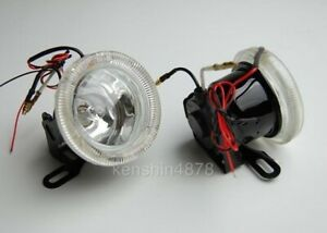 2pc 3 Round Fog Driving Lights Kit Includes Bulb Wiring Universal Fitment