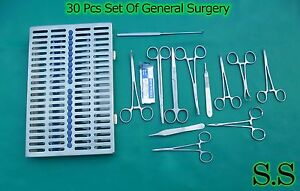 30 pcs General Surgery Set Veterinary Animal Hospital surgical Instrument Ds 968
