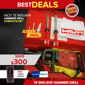 Hilti Te 905 avr Breaker Hammer In Good Condition Free T Shirt Fast Shipping