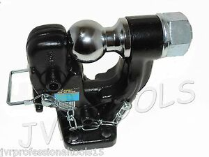 Pintle Hook 2 Ball Combo Trailer Hitch Towing 10 000 Lbs Capacity