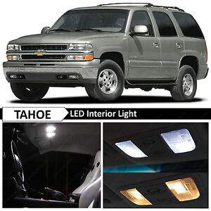 20 Pcs White Full Interior Led Lights Bulbs Package For 2000 2006 Chevy Tahoe