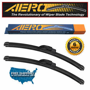 Aero Fiat 500 24 14 Premium All Season Beam Wiper Blades set Of 2
