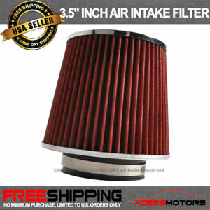 Fits Red Kn Type 3 5 Inch Performance Inlet Air Intake Filter 88 12 Honda Civic