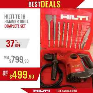 Hilti Te 16 Hammer Drill In Good Condition Free Bits And Chisels Fast Ship